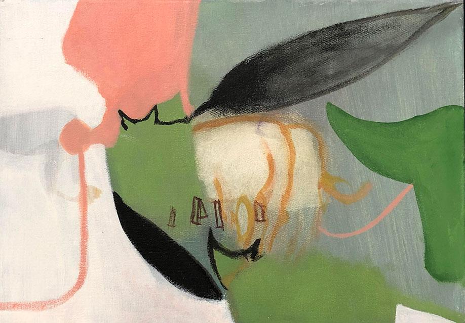 <b>Title:</b>Yikuan Zhao<br>Cow<br /><b>Year:</b>2020<br /><b>Medium:</b>Acrylic painting<br /><b>Size:</b>35 x 25 cm
