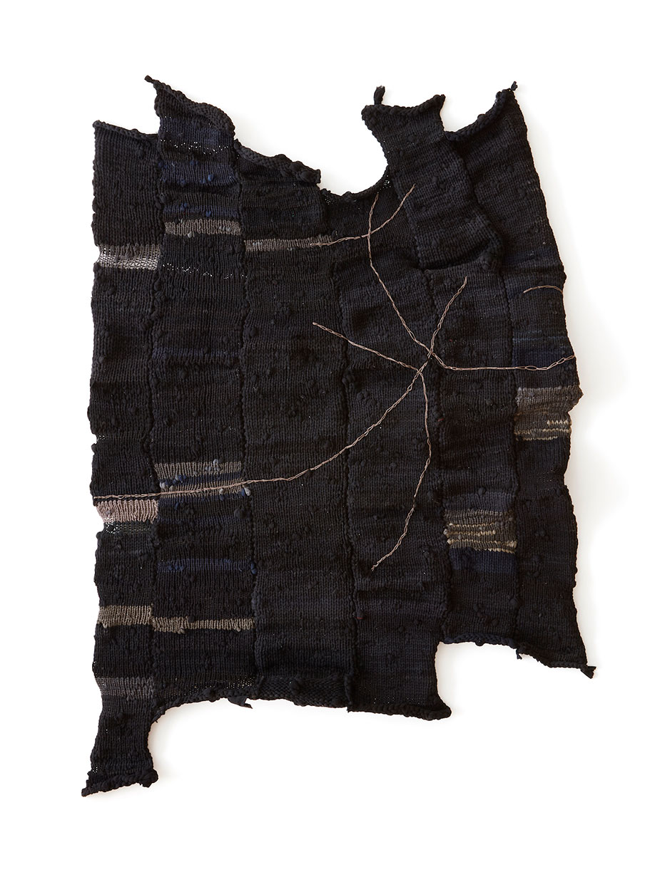 <b>Title:</b>Invisibility Cloak<br /><b>Year:</b>2019<br /><b>Medium:</b>Hand knitted nylon tights<br /><b>Size:</b>164.5 x 35cm